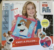 The Secret Life Of Pets Knot A Pillow Craft Kit 15 By 15 In Jack Russell Terrier