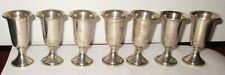 7 Vintage Sterling Silver Towle Pedastal Cordials Cups Goblets