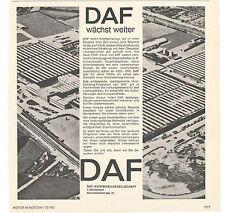 DAF-AUTOMOBILE - 60er anni storica pubblicità con loghi VINTAGE Adverts-inviti