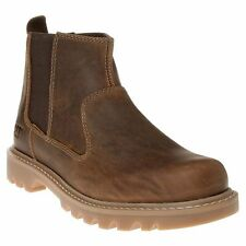 Mens Size Caterpillar Drysdale Pull On Leather Elasticated Dealer Chealsea Boots