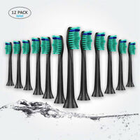 12 Replacement Toothbrush Heads for Philips Sonicare Proresults HX6014/13 Black