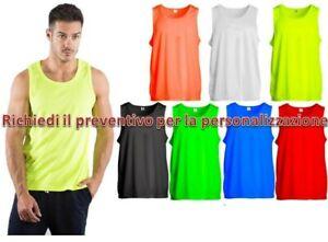 Canotta Sportiva Uomo T-Shirt Smanicata Running Palestra Sprintex Sport