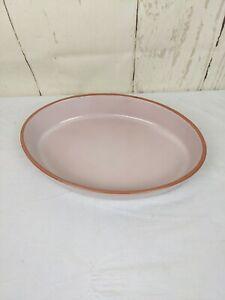 """Large Oval Emile Henry Pink/Blush Stoneware Casserole Baking Dish FRANCE 14""""x10"""""""
