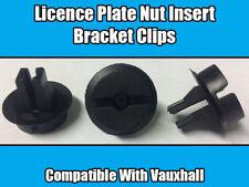 4x Clips Pour Vauxhall Opel Numéro de licence plaque support clip écrou Insert Noir