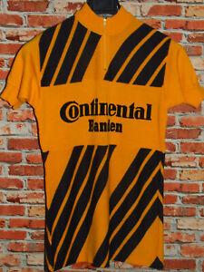 Shirt Bike Shirt Maillot Cycling Heroic Vintage 70'S Continental 50% Wool