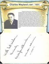 Charles Wayland Brooks Autograph Senator Illinois First Lieutenant World War #1