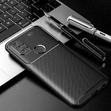 For OnePlus Nord N10 5G N100 Carbon Fiber Patterned Soft Case Cover Lens Camera