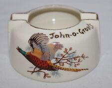 West Highland Pottery, Dunoon, Argyll - John O Groats/Pheasant Ashtray