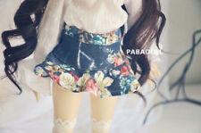 Cute Print Jeans Skirt for BJD 1/4 MSD,1/3 SD13 SD16 DD Doll Clothes CWB57