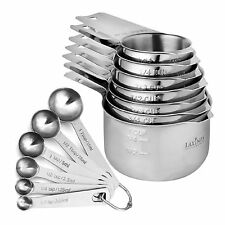 13 Piece Measuring Cups And Spoons Set, Sturdy  Stainless Steel 7 Measuring Cups