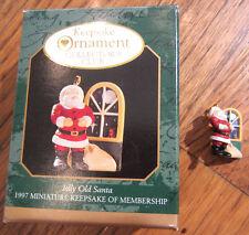 Hallmark Keepsake Ornament Miniaturejolly Old Santa 1997 Membership Keepsake Cc