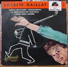 LUCETTE RAILLAT/RICET BARRIER LA SERVANTE DU CHATEAU  FRENCH EP POLYDOR 1959