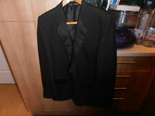 "1960s Dunn & Co  Black Tie Dinner Jacket size 36"" with Satin Shawl Collar"