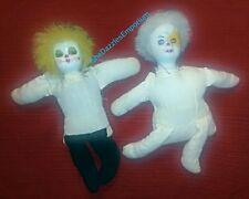 Circus Clown Dolls Porcelain Head/Hand Painted Face vintage
