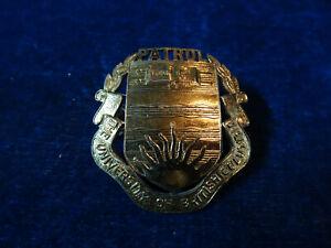 "Orig Vintage Obsolete Cap Badge ""University Of British Columbia - Patrol"""