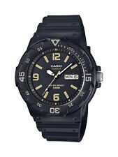 Casio Men's Quartz Diver Day and Date Black Resin Band 48mm Watch MRW200H-1B3