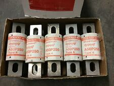 A50P250 GOULD SHAWMUT 250A 500V TYPE 4 RECTIFIER FUSE -CROSS W/ KBH, FWH --SES