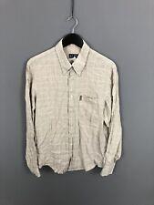 ARMANI Shirt - Size Large - Linen - Check - Great Condition - Men's