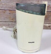 VTG KRUPS 203 Coffee Spice Mill Herb Grinder Electric Grind Ivory/Almond