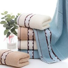 Jacquard Cotton Face Hand Towels Soft Dry Quick Washcloth Shower