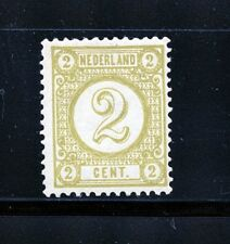 Netherlands #36 (NE687) Numeral of Value 2c olive yellow, M,VLH, FVF