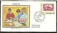 Canada SC# 911 CANADA '82 Intl. Philatelic Exhibition.Colorano Silk  Cachet.