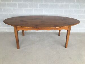 """VINTAGE HIGH QUALITY SHAKER STYLE HAND MADE PINE 92"""" DINING FARM TABLE"""