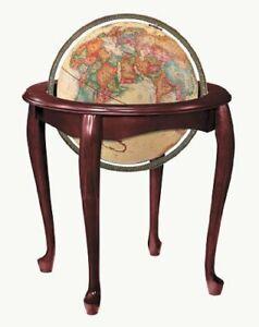Replogle Queen Anne Floor Globe, Antique