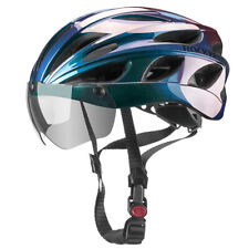 ROCKBROS Cycling MTB Road Bike Helmet with Goggles Visor Gradient Blue