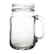 48 x Toughened Commercial Handled Mason Jar Glass 470ml Olympia Cafe Restaurant