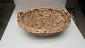 Vintage Small Wicker Basket with Handles