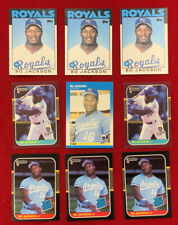 1986 87 Topps Fleer Bo Jackson Rookie Baseball 9 Card Lot Kansas City Royals 🔥