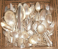 Lot of 168 Vintage Silverplate Flatware Craft Use Serving Pc Forks Spoons Knives