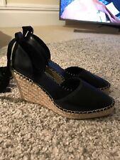Topshop Wedge Shoe Black Size 4/37 Women's  Heels
