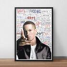 Eminem Poster  Print  Wall Art A4 A3  Slim Shady  Marshall Mathers  Encore