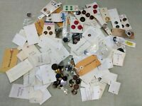 "LOT OF BUTTONS  Assorted Colors Brands Cards ""Extra"" Vintage Plastic Metal"