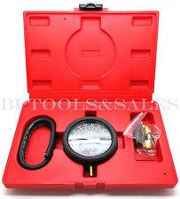 Fuel Pump Amp Vacuum Tester Carburetor Valve Pressure Tester Gauge Kit Car Truck