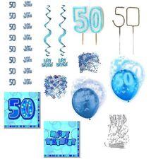 50. Geburtstag Girlanden, Konfetti, Hängedeko, Servietten, Tisch,-Raumdekoration