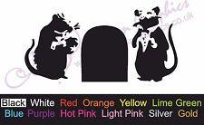 *RAT HOLE* Banksy Car Sticker, Window/Body, Vinyl Drift Decal, Mice