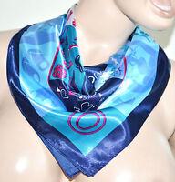 FOULARD donna raso quadrato fazzoletto fantasia estivo colorato scarf bufanda 86