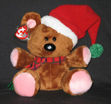 TY POOKY the BEAR BEANIE BUDDY with SANTA HAT - MINT with MINT TAGS