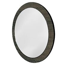 Cibo Design BRONZED OAK ROUND PORTHOLE MIRROR Veneer Surround, Easy Mount, 600mm
