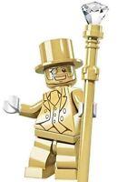 Mr Gold Man Mini Figures NEW UK Seller Fits Major Brand Blocks Bricks