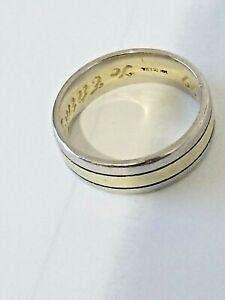 14K Two Tone Yellow & White Gold Wedding Band Ring
