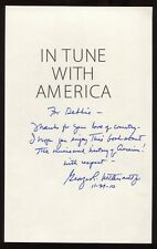 George Nethercutt Signed Book Page Cut Autographed Signature