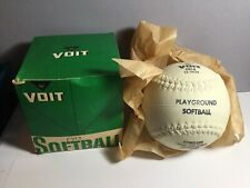 Vtg Mib Voit C912 12� Playground Softball Stingless Official Sz Weight In Box
