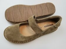 CLARKS Collection Brown Suede Leather Comfort Mary Jane Shoes Womens US 9 Medium