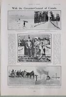 1903 PRINT LORD & LADY MINTO AT PETERBOROUGH ONTARIO CANADA QU'APPELLE CAMP