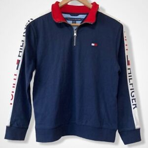 NEW Boy's Size 12-14 Youth Tommy Hilfiger Pullover Long Sleeve Sweater Shirt