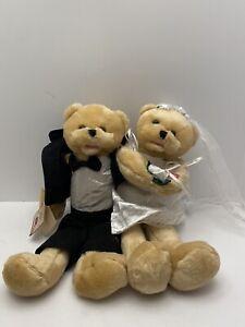 "Rare CHANTILLY LANE Cohair Bride Bear Sings ""Chapel of Love"" Animated 22"" groom"